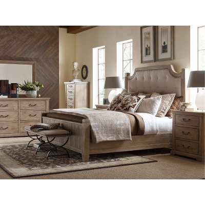 Rachel Ray Home Sunbleached California King Upholstered Bed - Monteverdi