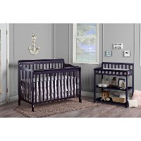 Navy Convertible 5-in-1 Crib - Ashton