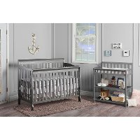 Classic Storm Gray Convertible 5-in-1 Crib - Ashton
