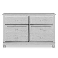 Antique Gray 6-Drawer Double Dresser - Hampton