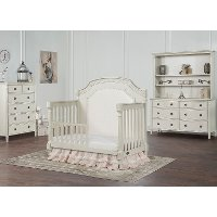 847-C Cloud White Convertible Crib Toddler Rail - Julienne