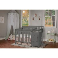Gray 4-in-1 Mini Convertible Crib and Changer - Jayden