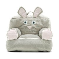 0887674 Light Gray Bunny Bean Bag Throne Chair - Bagimal