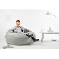 0005658 Lenox Fog Gray Lounger - King Fuf