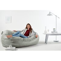 0002658 Lenox Fog Gray Media Lounger - Fuf