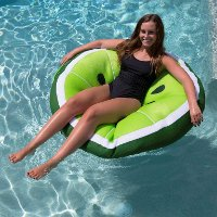 2197LIM Lime Mesh Slice Pool Floaty - Fruit Float