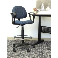 Tall Blue Adjustable Office Chair