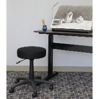 Small Black Adjustable Stool