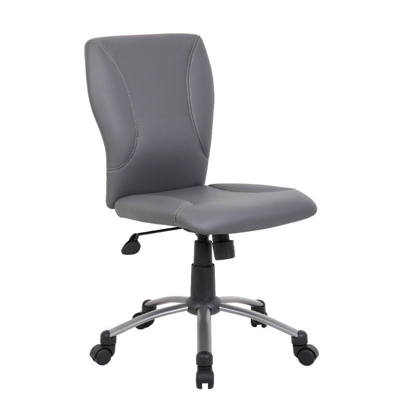 Comfortable Gray Office Chair Rc Willey Furniture Store
