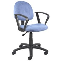 Deluxe Blue Office Chair for Posture