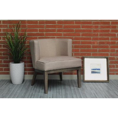 Beige Oversized Accent Chair