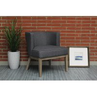 Slate Gray Oversized Accent Chair