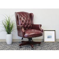 Burgundy High-Back Executive Office Chair