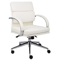White Mid-Back Executive Chair