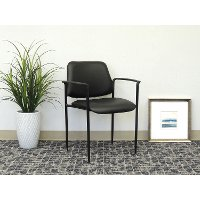 Black Stackable Guest Chair