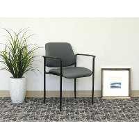 Gray Stackable Guest Chair