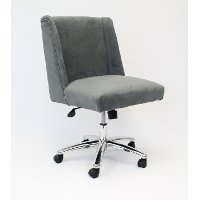 Gray Wingback Office Chair