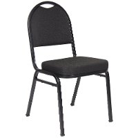 Black Stackable Banquet Chair (Set of 4)