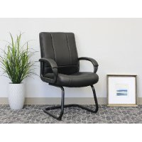 Black Mid-Back Guest Chair