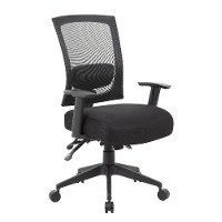 Black Three-Paddle Office Chair