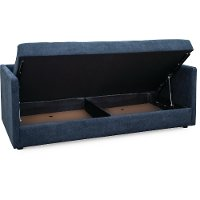 Contemporary Midnight Blue Sofa Daybed With Storage Cooper 2