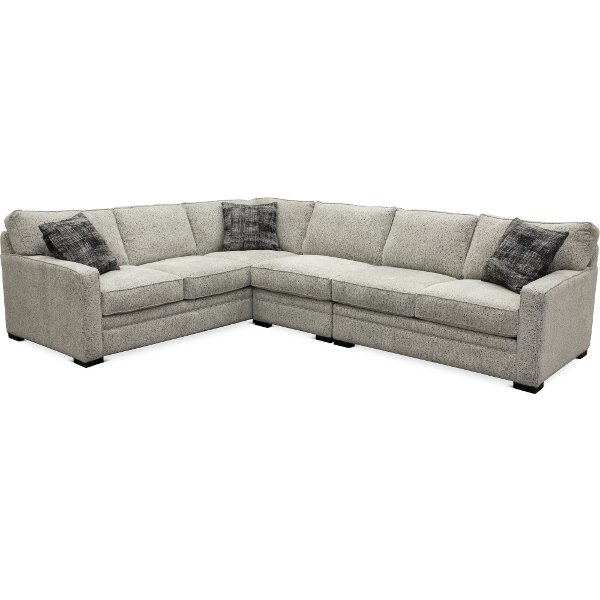 Contemporary Gray 3 Piece Sectional Sofa With Laf Juno
