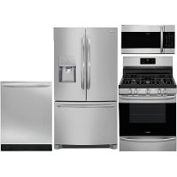 KIT Frigidaire 4 Piece Kitchen Appliance Package with Gas Range - Stainless Steel