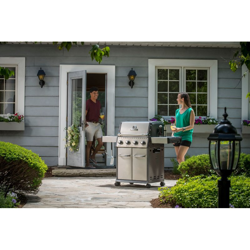 Broil King Baron S420 Natural Gas Grill - Stainless Steel