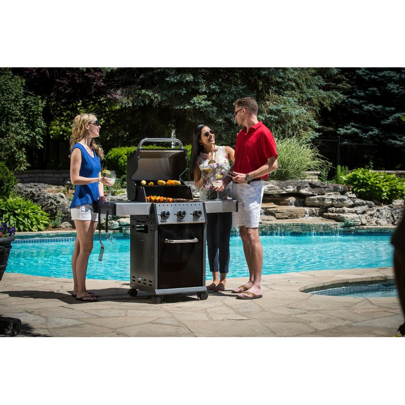 Broil King Baron 320 Natural Gas Grill - Black