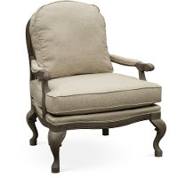 Traditional Linen Accent Chair - Cogan