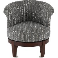 Charcoal Gray Swivel Accent Chair - Attica