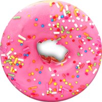 Pink Donut PopSocket Cell Phone Grip and Stand