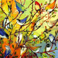 Birds Of A Feather Patio Canvas Outdoor-Indoor Wall Art