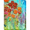 Multi-Color Poppies Patio Canvas Outdoor-Indoor Wall Art