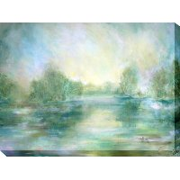 Lake View Patio Canvas Outdoor/Indoor Wall Art