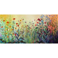 Floral Playful Patio Canvas Outdoor/Indoor Wall Art