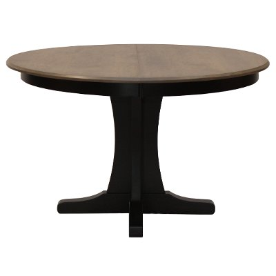 Maple Pedestal Round Dining Table - Sterling