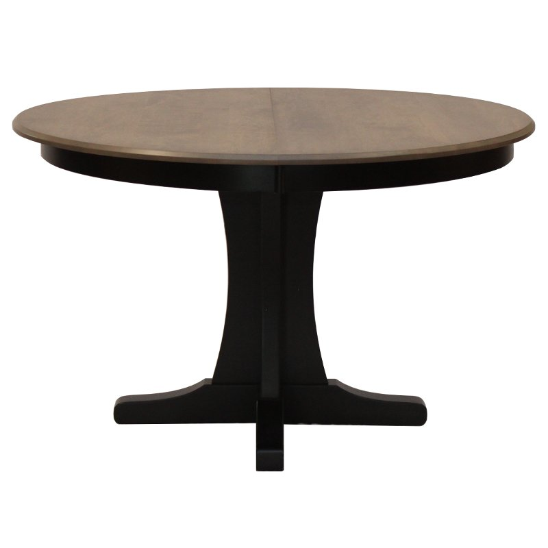 Maple Pedestal Round Dining Table Sterling