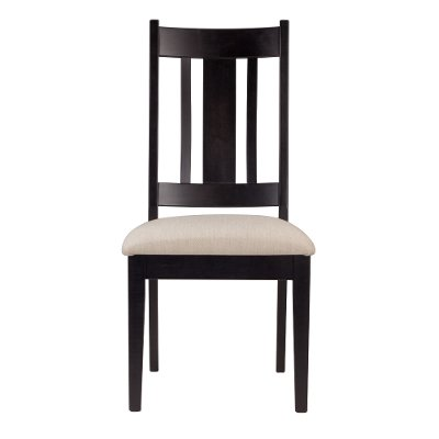 Cream and Black Upholstered Dining Room Chair - Sterling