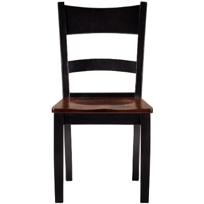 Maple Two-Tone Ladder Back Dining Room Chair - Saber