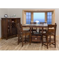 Maple 5 Piece Counter Height Dining Set - Larkin