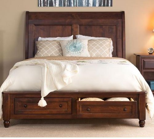 Classic Maple Brown 6 Piece King Bedroom Set Charlton