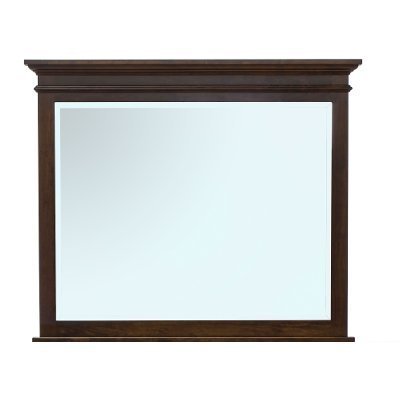 Classic Traditional Cherry Brown Mirror - Brentwood