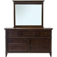 Classic Cherry Brown Dresser - Brentwood