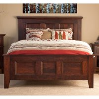 Classic Cherry Brown Queen Bed - Brentwood