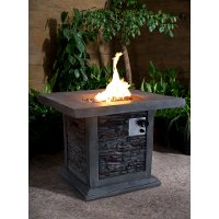 Gray Stone Gas Outdoor Fire Pit - Nusa