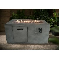 Gray Cement Rectangle Fire Pit - Nusa