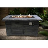 Colombo Weathered Brown Rectangle Fire Pit - Nusa