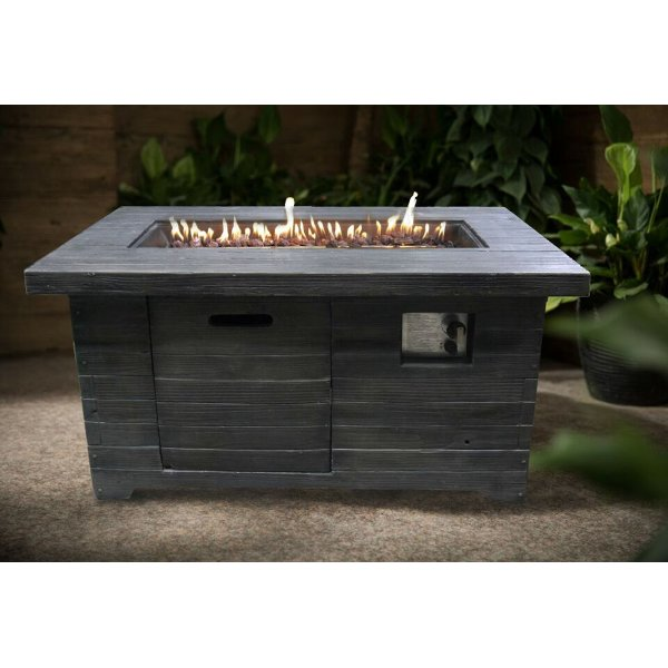 Superieur ... Colombo Weathered Brown Rectangle Fire Pit   Nusa