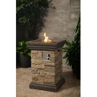 Brown Stack Stone Fire Pit - Nusa